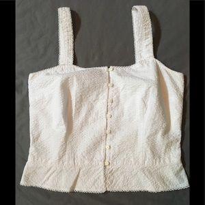 Ann Taylor Dressy White Cotton Cami